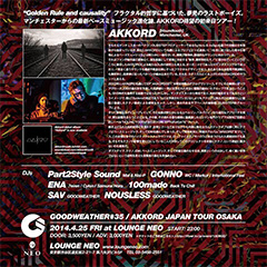 GOODWEATHER presents AKKORD JAPAN TOUR