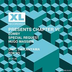 XL Recordings Chapter VIが東京で開催決定